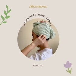 This super-soft microfiber fabrics known for its moisture-wicking properties, so it draws water away from your hair without having to squeeze or rub it.Dry your hair without hassle with our Microfiber Hair towel. Swipe left for quick how-to guide!#beauphoria #beauphoriababe