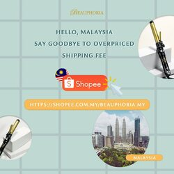 Gooood newsss✨Dearest Beauphorians, this is for you who domiciled in Malaysia🇲🇾 , you can now shop our tools with a biiiig smile because no more overpriced shipping fee!Happy shoppinggg 🇲🇾🛒