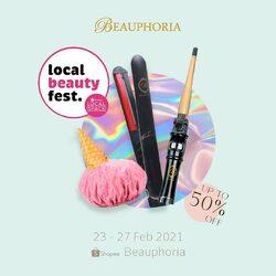 T.G.I.F! 🥳 Weekend itu selalu exciting yahhh, di tambah lagi Local Beauty Fest yang bikin makin exciting!Have you checked us out at Local Beauty Fest? We have up-to 50% off products and bundles! Promo ini hanya berlaku sampai tanggal 27 Februari 2021, so don't miss out 🥰 Visit us at @shopee_id: Beauphoria 🛒#beauphoria #beauphoriababe